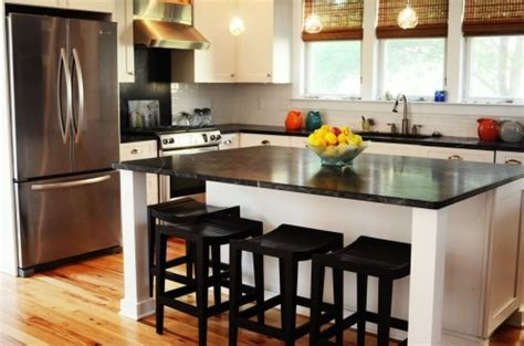 2014 kitchen trend dramatic black counters