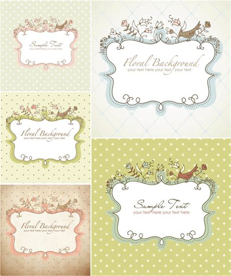 printable decorative tags decorative floral frames vector scrapbooking love