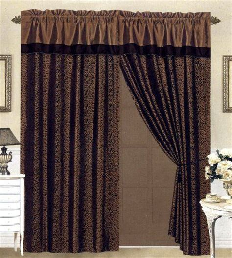 brown and black curtains curtain valances curtains drapes and flocking on pinterest
