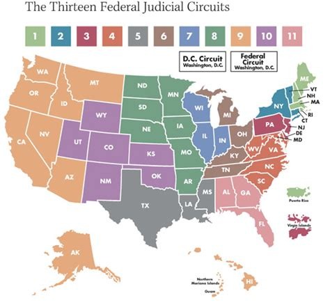map us circuit courts of appeal 187 courts of appeal circuit map otb journal of