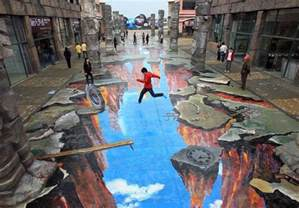 3d Artist by 3d 14 Eye Popping Optical Illusions Created In Chalk