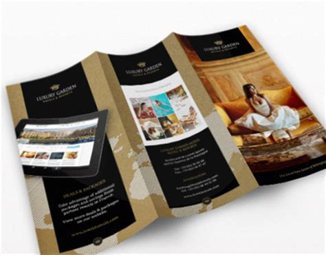 Hotel Brochure Design Gallery Tri Fold Contemporary Hotel Indesign Brochure On Behance