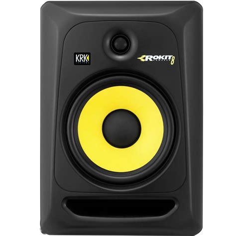 Speaker Krk krk rokit rp8 g3 studio monitors plus speaker stands cables monitoring from inta audio uk