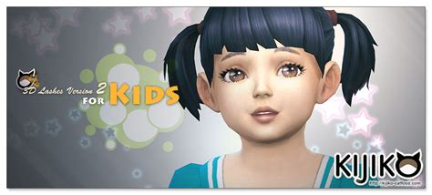 sims 4 toddler eyes cc sims 4 cc s the best eyelashes toddlers version by kijiko