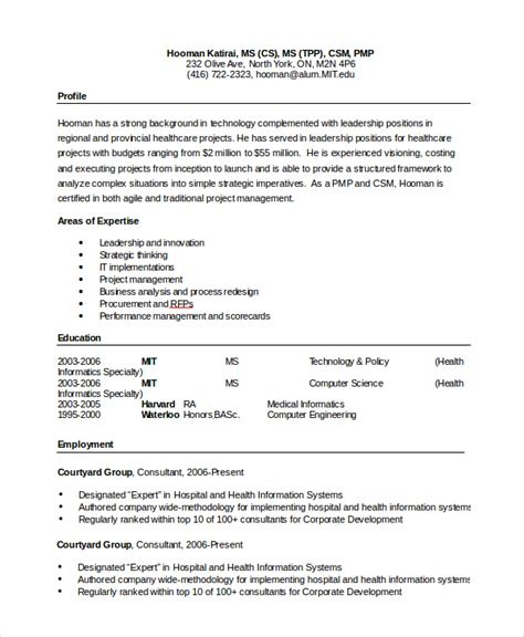 microsoft resume exles sle word resume 8 exles in pdf word