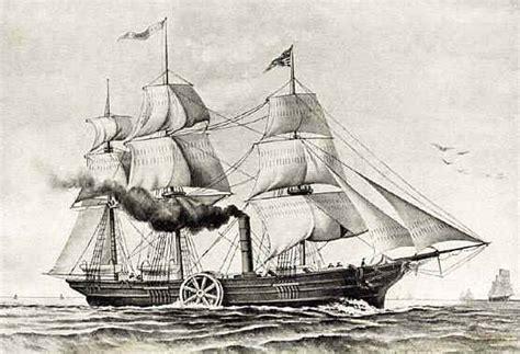 quien invento el barco a vapor medios de transporte la historia del barco