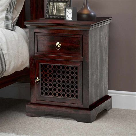 nightstand with cabinet door madison solid wood 1 drawer nightstand cabinet