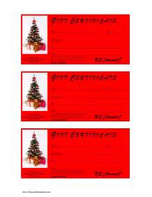 christmas gift certificate template free microsoft word