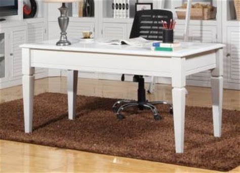boca 60 inch writing desk in cottage white finish by