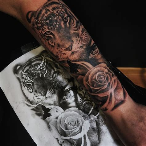 tiger rose tattoo korol certified artist