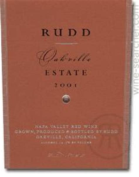 scores history 2001 rudd oakville estate red california usa