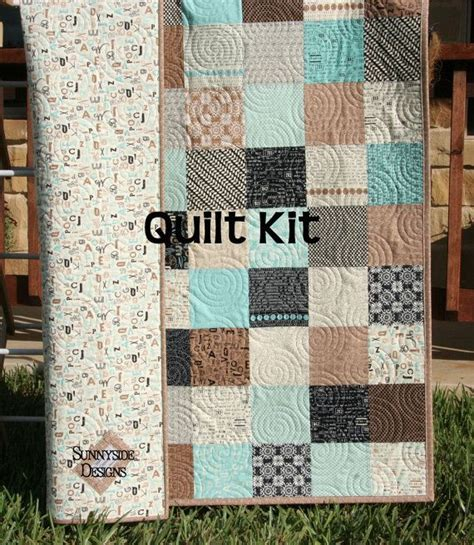 How Much Fabric For A Size Quilt by Quilt Kit Elementary Sweetwater Moda Fabrics Brown