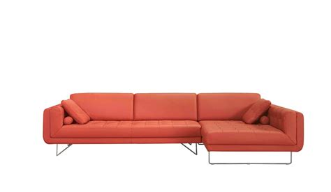 Orange Sectional Sofa Divani Casa Modern Orange Italian Leather Sectional Sofa