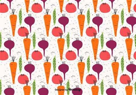 vegetable doodle vector free doodle vegetables pattern free vector