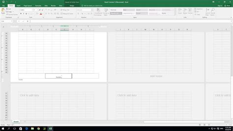 creating header and footer how to create header and footer in excel 2016 youtube