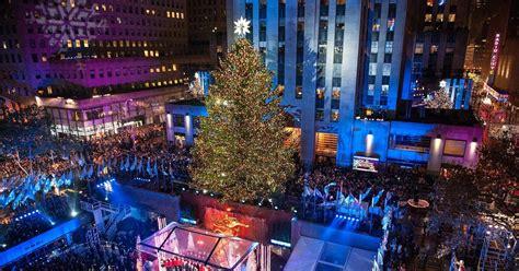 tree lighting rockefeller center rockefeller center tree lights up new york city