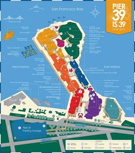 san francisco map restaurants pier 39 map a detail map of pier 39 san francisco