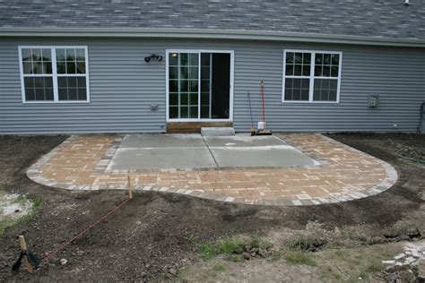 Adding Pavers To Concrete Patio Paver Patio Easy Landscape Ideas