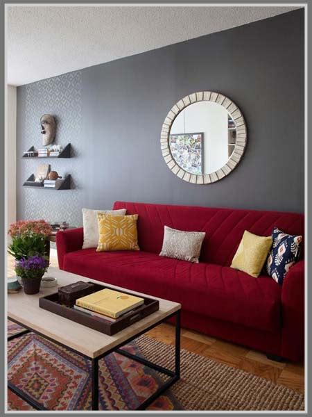 ruang tamu warna merah desainrumahidcom