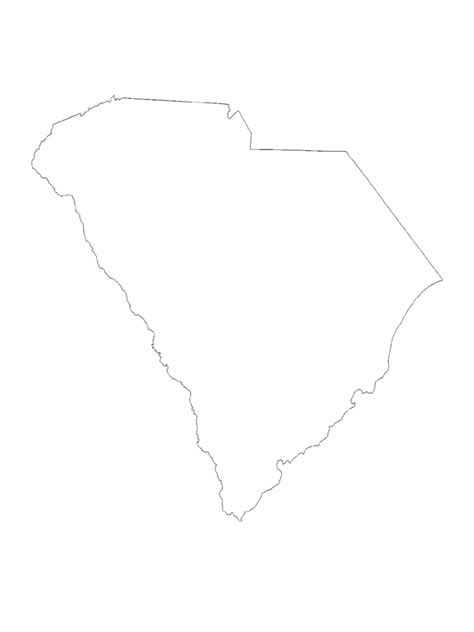 blank map south carolina south carolina map template 8 free templates in pdf