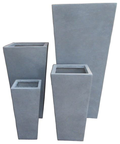 Modern Square Planter by Modern Square Concrete Set Of 4 Planters Outdoor Indoor Indoor Pots And