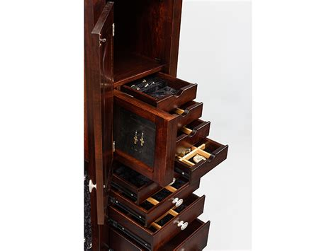 hardwood jewelry armoire 48 shaker jewelry armoire with 8 drawers maple amish soapp culture