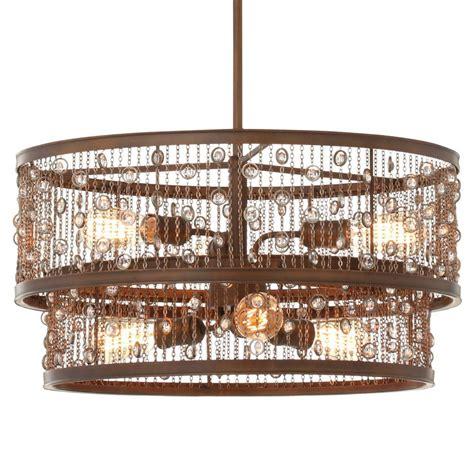 lighting stores colorado springs feiss colorado springs 6 light chestnut bronze single tier