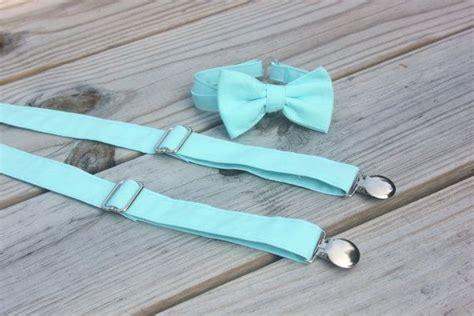 light up bow tie and suspenders light aqua blue bow tie and suspender set men boys