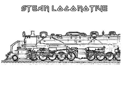 free printable train coloring pages for kids steam train
