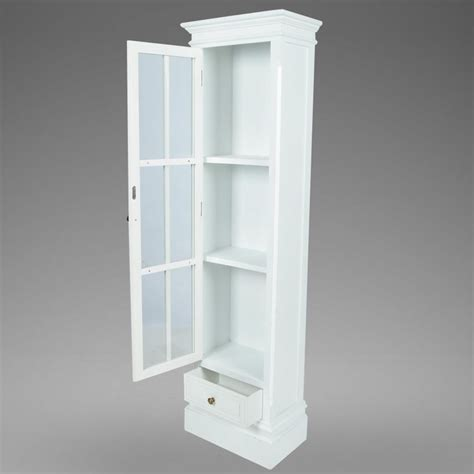 White Shabby Wooden Chic Bookcase Cabinet With 3 Shelv White Bookcase With Cabinet
