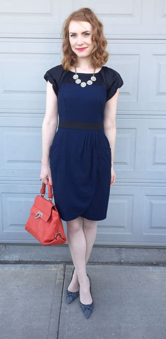 Wst 14632 Blue Collar Dress it s raining navy dresses blue collar lipstick