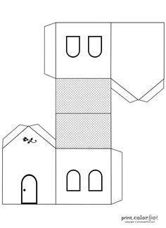 printable tudor house template putz houses on pinterest putz houses glitter houses and