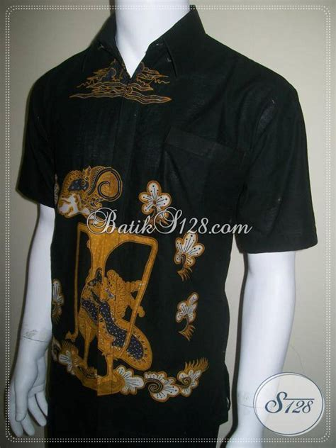 Hem Batik Wayang Pandawa Tosca Batik Cabut Warna kemeja batik wayang yudhistira a k a puntadewa warna hitam ld141bt toko batik 2018