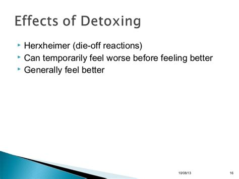 Herxheimer Reaction During Detox by Detoxification Presentation 97 To 2003 Format