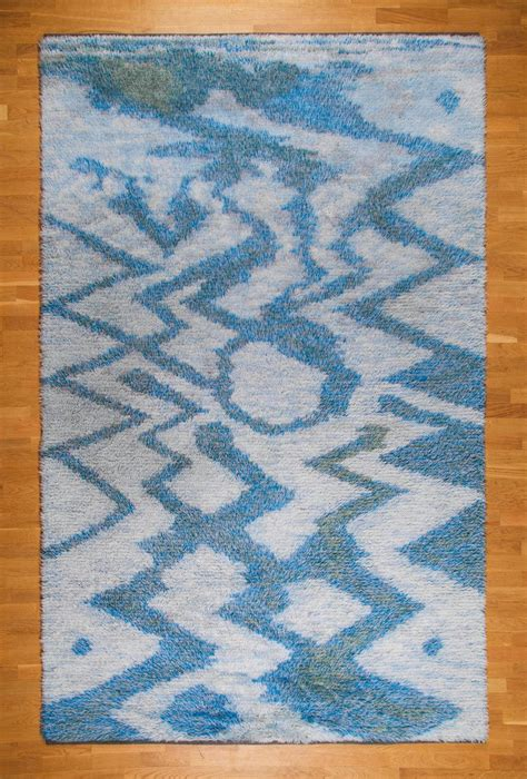 scandinavian knotted rug large 115 quot swedish knotted rya carpet 1950s for sale at 1stdibs