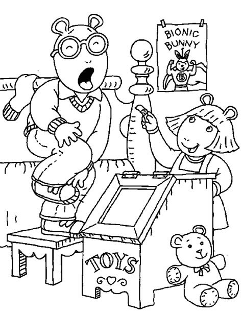 Arthur Coloring Pages Free Az Coloring Pages Arthur Colouring Pages