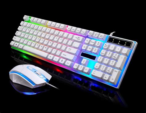 gaming in color adjustable led rainbow color backlight gaming usb