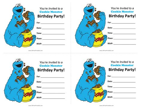cookie rally card templates free cookie birthday invitations templates at