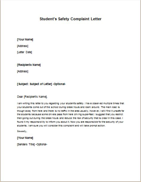 Complaint Letter Template Estate Complaint Letter About Co Worker Or Colleague Writeletter2