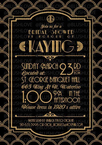 great gatsby bridal shower invitation digital file by