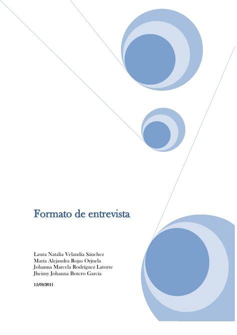 format c vista zonder cd formato de entrevista 1 1