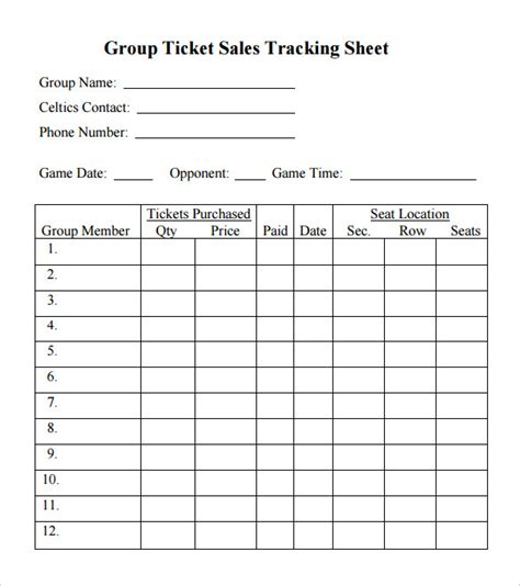 ticket sales spreadsheet template spreadsheet templates 20 free excel pdf documents