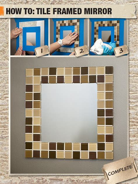 how to frame a bathroom mirror with mosaic tiles best 25 tile mirror frames ideas on pinterest tile