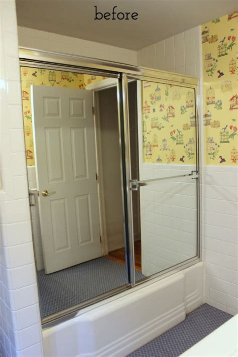 Tub Doors With Mirror one room challenge week 1 bathroom remodel driven by decor