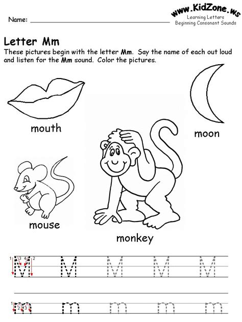 17 Best Images About Letter M Worksheets On - 22 best images about letter mm on letter m