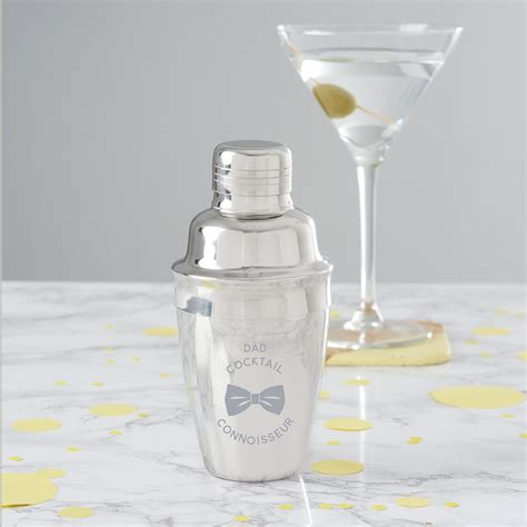 mini martini personalised mini cocktail shaker for dad becky broome