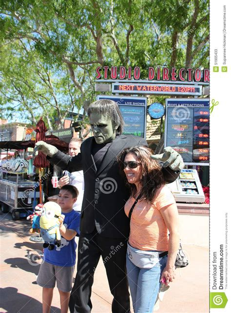 universal themes of frankenstein frankenstein at universal studios hollywood editorial