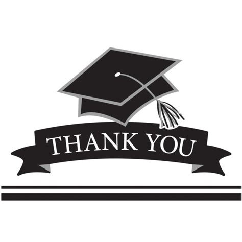 graduation thank you notes white graduation thank you notes