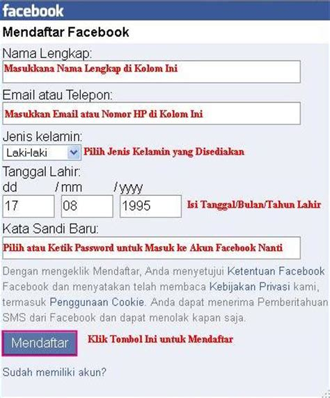 membuat email via operamini cara mudah daftar facebook via opera mini hp download