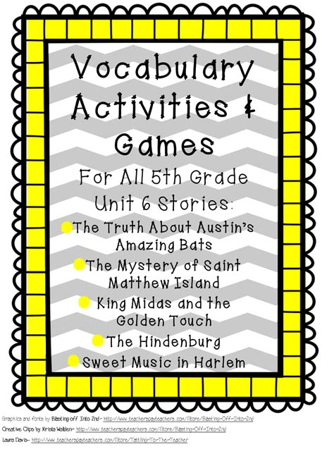 fifth grade is fab 5th grade reading vocabulary